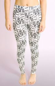 Monochrome LOVE Print Leggings